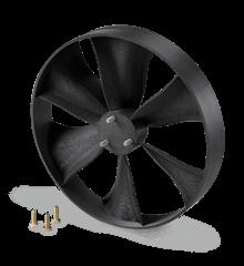 Ventilateur gris fabriqué par impression 3D en ABS-M30.