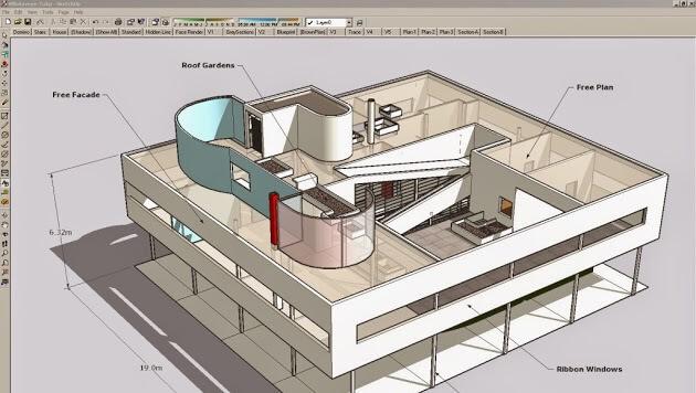 Modélisation 3D fichier architectural avec SketChup Pro
