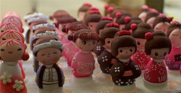 pâtisserie de figurines réalisées par un emporte-pièce imprimé en 3D