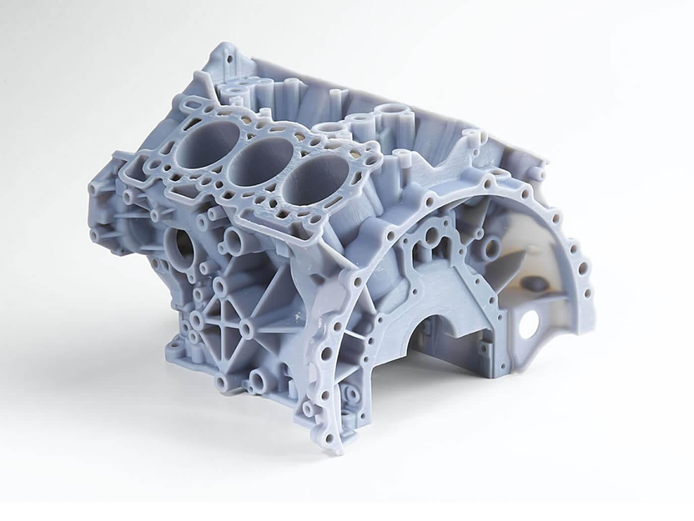 Moteur imprimé en 3D avec PolyJet EDEN OBJET.