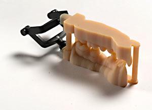Mâchoire humaine fabriqué avec une imprimante 3D PolyJet.