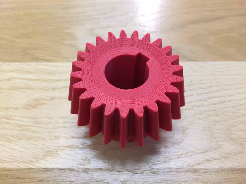 Engrenage fabriqué en dépôt de fil FDM Stratasys