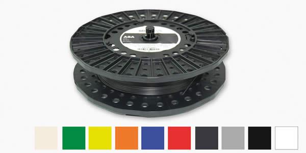 Les différentes couleurs du matériau ABS-M30 en dépôt de fil, impression 3D