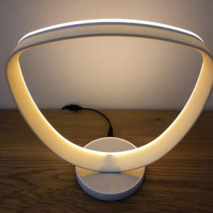 Luminaire rond LED, imprimé en 3D. Modèle 2.