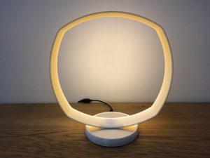 Luminaire rond LED, imprimé en 3D. Modèle 3.