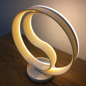 Luminaire rond LED YinYang, imprimé en 3D. Modèle 4.