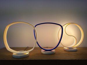 Luminaire rond LED, imprimé en 3D. Modèle trio.
