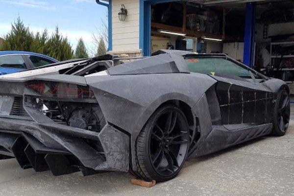 Lamborghini réalisée avec une imprimante 3D