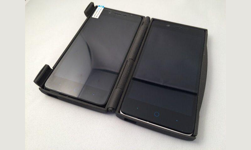 Double coque pour téléphone portable réalisé en impression 3D SLS.