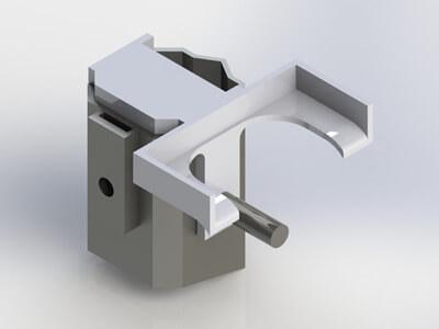 Adaptateur pour perche de manutention réalisé par modélisation 3D