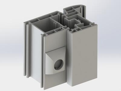 Profilés de fenêtres réalisés par modélisation 3D