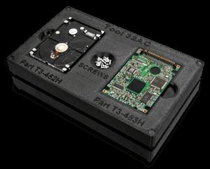 Boitier électronique noir imprimé en 3D avec un matériau antistatique et anti-poussières ABS-ESD7.